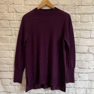 BADGLEY MISCHKA Purple 100% Merino Wool Sweater